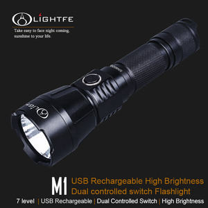 M1 USB Rechargeable High Brightness Dual controlled switch Flashlight